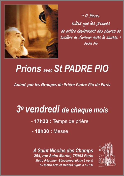 Affiche Groupe Prière Padre Pio