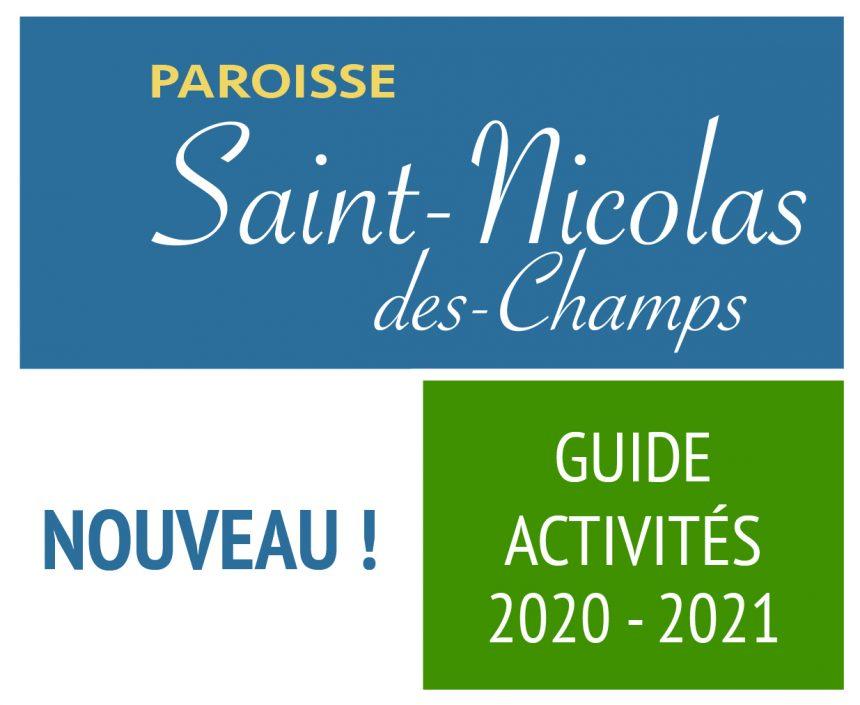 NOUVEAU GUIDE DES ACTIVITÉS 2020-2021